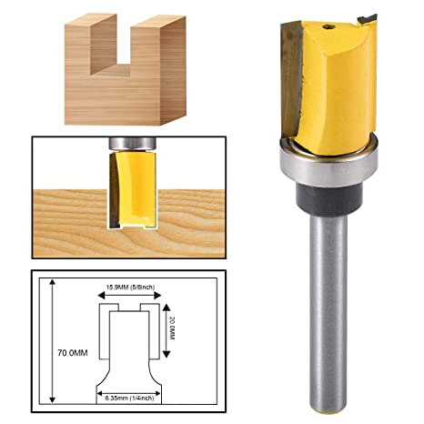 DIY Tools & Workshop Equipment Long straight 8mm Woodworking Milling Cutter with handle Alloy Router Bit