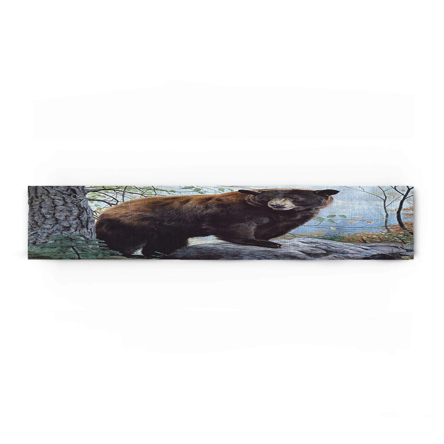 Decorfine The Bear in The Woods Cotton Table Runner - Perfect for Summer, Holiday Parties and Everyday Use 14x72inch