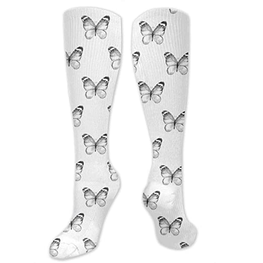 80c4c81038d Image Unavailable. Image not available for. Color  Simple Pencil Drawing Of Butterflies  Women s Girls Knee ...