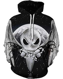 d35416dc2fff Amazon.com  Imilan Men s Pullover Hoodie Galaxy Animal 3D Print ...