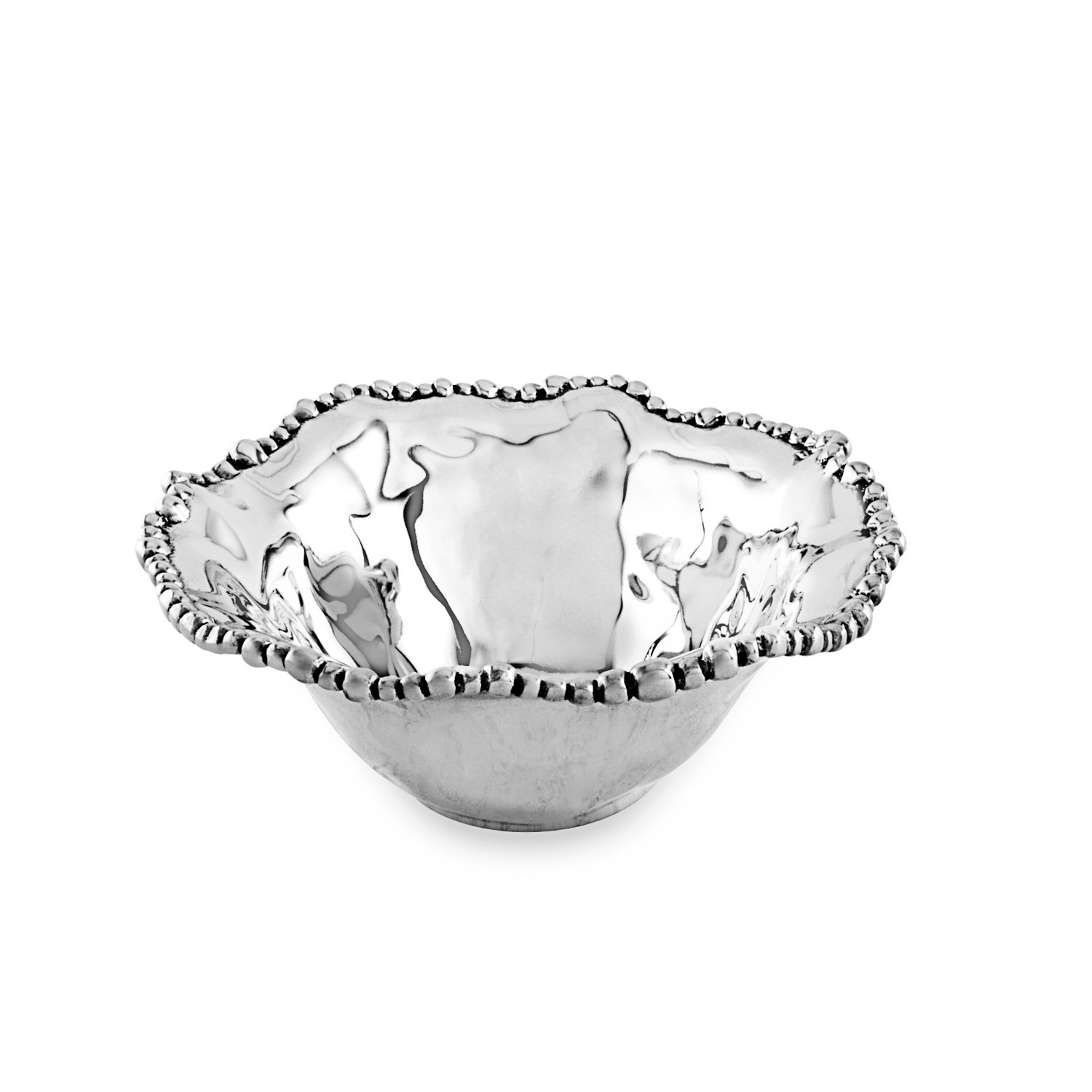 Beatriz Ball Small Organic Pearl Nova Flirty Bowl, Metallic