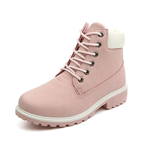 bc67c685807050 Damen Worker Boots Winterstiefel warme Stiefel Schoene Prinzessin Rosa Gr.  41