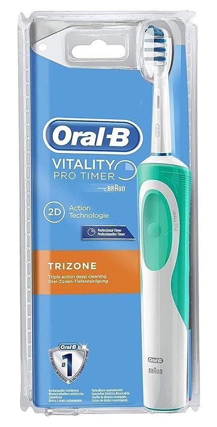 Oral-B Vitality TriZone temporizador profesional cepillo de dientes eléctrico recargable + 1 mango +