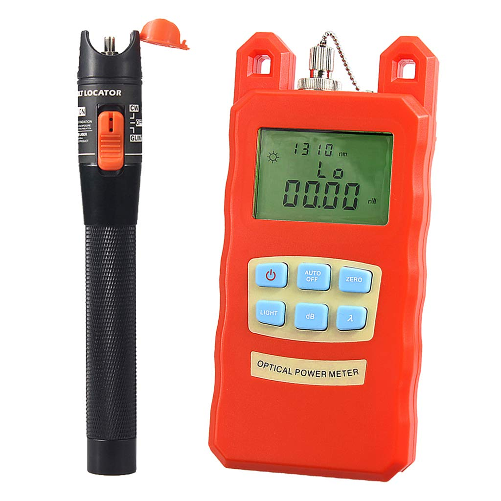 SM SunniMix Pack -70dBm~+10dBm 850~1625nm Optical Power Meter Tester FC SC Handheld Optical Power Meter + 10mW Visual Fault Locator Pen