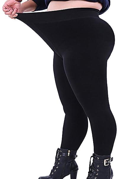 7829c41981173 Seawhisper Leggings for Women Plus Size Black Cotton Workout Leggings XL  2XL 3XL 4XL 14W Thick