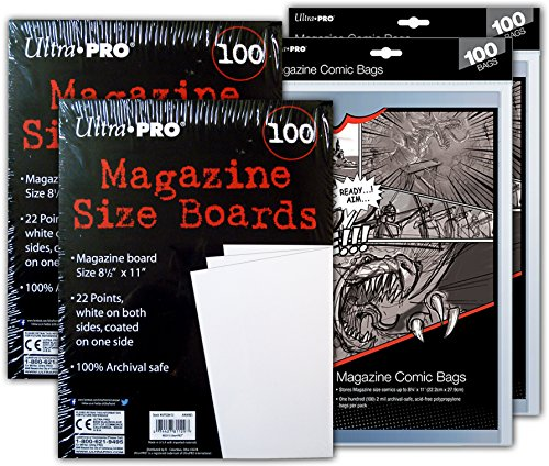 Ultra PRO Magazine Size Comic Board & Bag 2 Pack Bundle