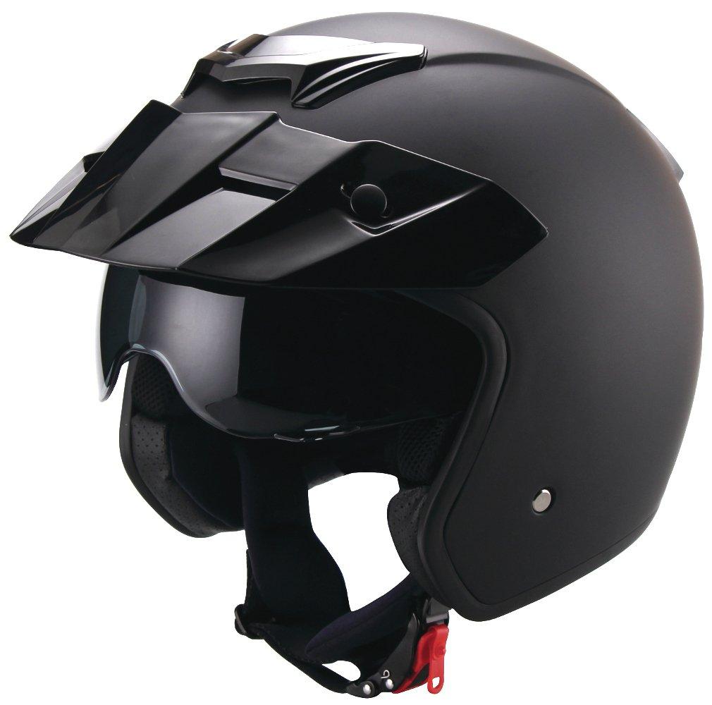 Jethelm Helm Motorradhelm Rollerhelm RETRO RALLOX 723 schwarz matt Gr/ö/ße XL