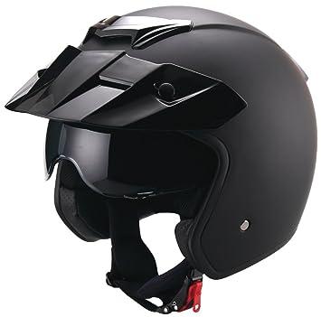 RALLOX Helmets - Casco de moto Jet Abierto Scooter Negro mate Rallox 723 (S M L XL