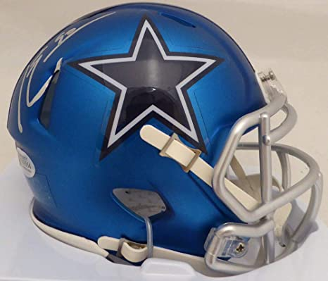 46694ca16 Image Unavailable. Image not available for. Color: Demarcus Lawrence Signed  Auto Dallas Cowboys Blue ...