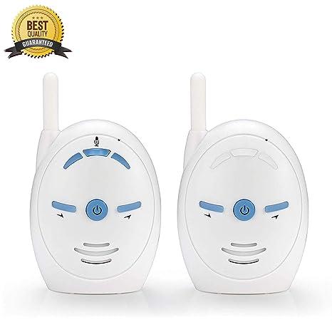 Vigilabebes Audio, Monitor de Audio para Bebés Digital de Largo Alcance con Control Remoto Clásico para Bebés con Transmisión Digital de 2.4GHz