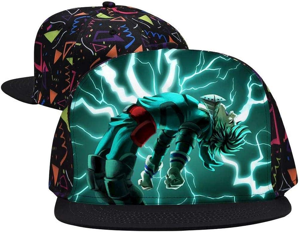 BEKAI Unisex Lightning My Hero A-CA-demia Adjustable Brimbill Flats Hat for Mens//Womens Hip Hop Caps