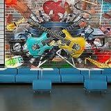 Guitar & Music Abstract Art Bright Graffiti Art Wall Mural Music Photo Wallpaper available in 8 Sizes Gigantic Digital