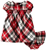 Hartstrings Baby-Girls Newborn Smocked Plaid Dress And Diaper Cover Set