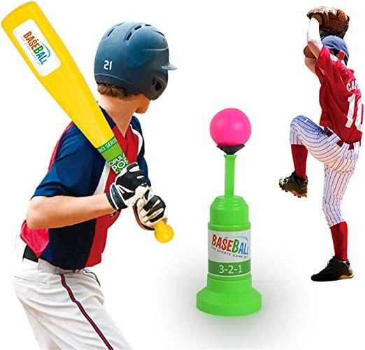 Baseball Game Toy Kids Automatic Training Launcher Sports Outdoor T-Ball Set