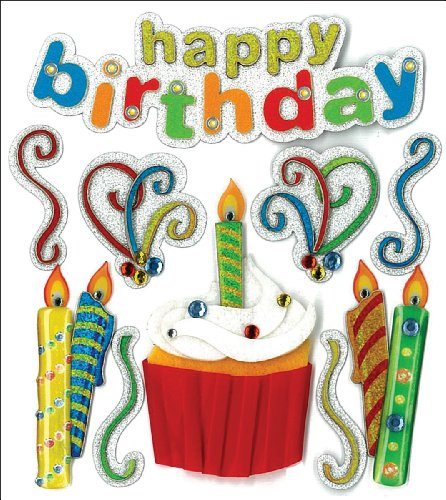 Happy Birthday Scrapbooking - Jolee's Boutique Dimensional Stickers, Happy Birthday