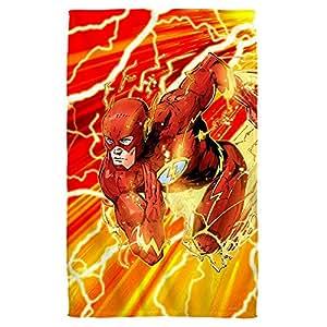 "Lightning Dash -- The Flash -- Justice League -- Beach Towel (36"" x 58"")"