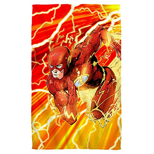 Lightning Dash -- The Flash -- Justice League -- Beach Towel (36'' x 58'') by Justice League