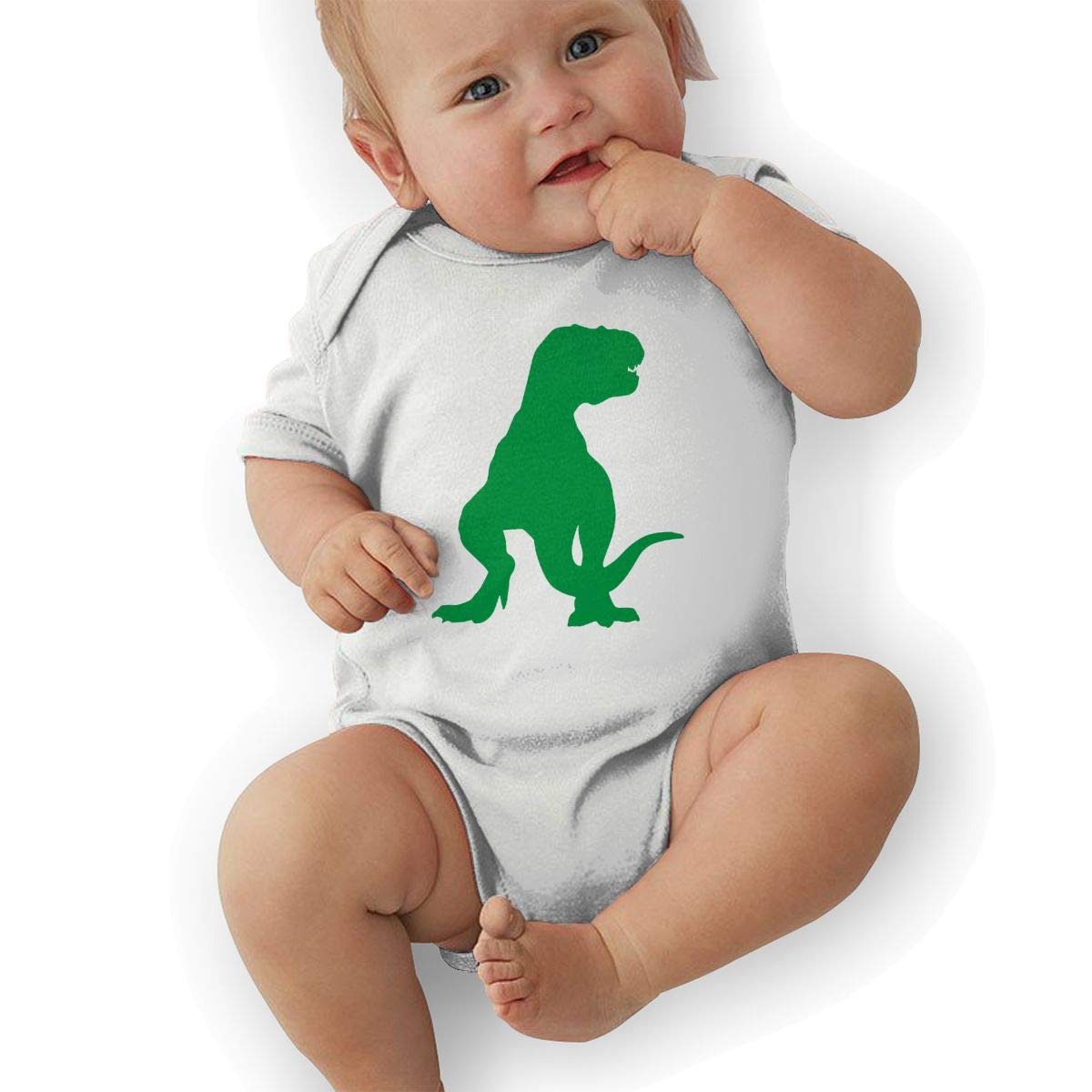 LBJQ9 Tyrannosaurus Infant Girls Boys Organic Cotton Short Sleeve Romper Pajama Clothes