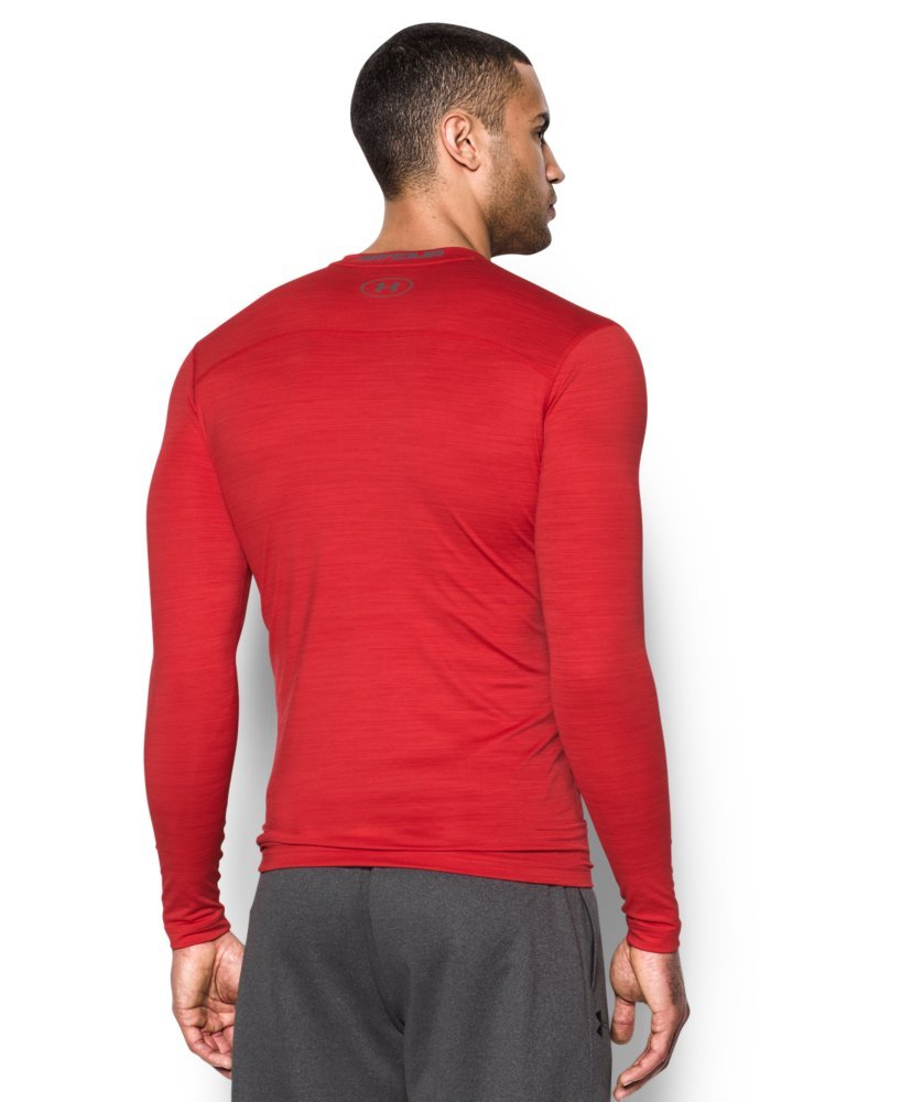 Under Armour Men's ColdGear Armour Twist Compression Crew, Red/Graphite, Small by Under Armour (Image #2)