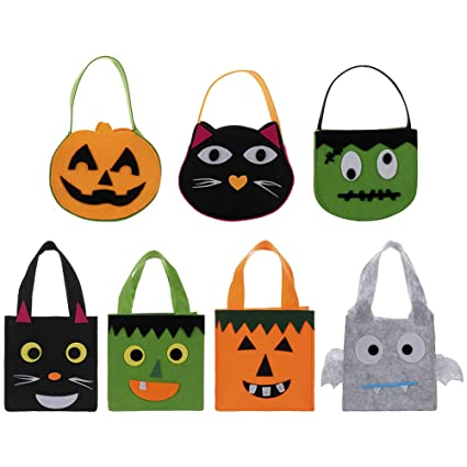 Amazon.com: Pannow Set of 7 Halloween Felt Candy Bags ...