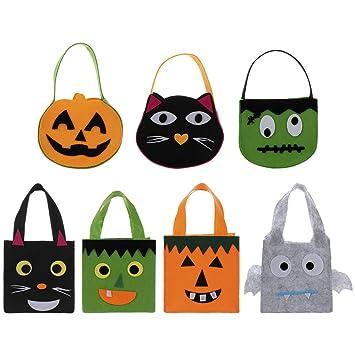 Happyshop 18 Paquete de 7 Bolsas de Asas de Halloween ...