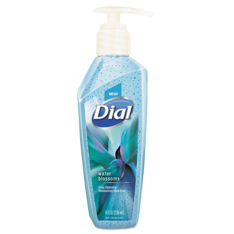 Dial DIA 11254 DIA11253CT Deep Cleansing Premium Liquid Hand Soap, 8 oz. Pump Bottle, Water Blossoms, Blue (Pack of 8) DIAL PROFESSIONAL