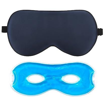 2b70613d7 Antifaz para Dormir, AJOXEL Antifaz de Gel para Mujer Hombre con Gel Frío  Cómoda Máscara de ...