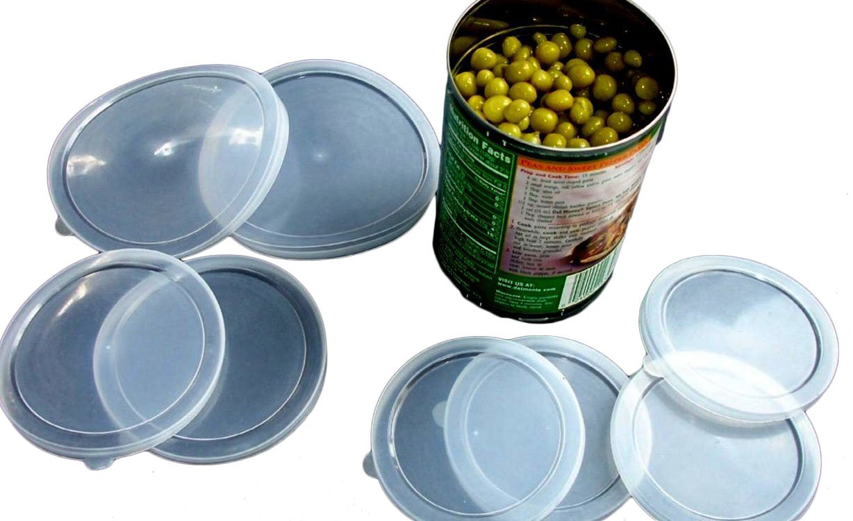 Number ten cans for sale - Amazon Com 6 Piece Large Medium Small Plastic Can Cover Also For Pet Cat Dog Food Save Food Fresh Tight Seal Home Kitchen