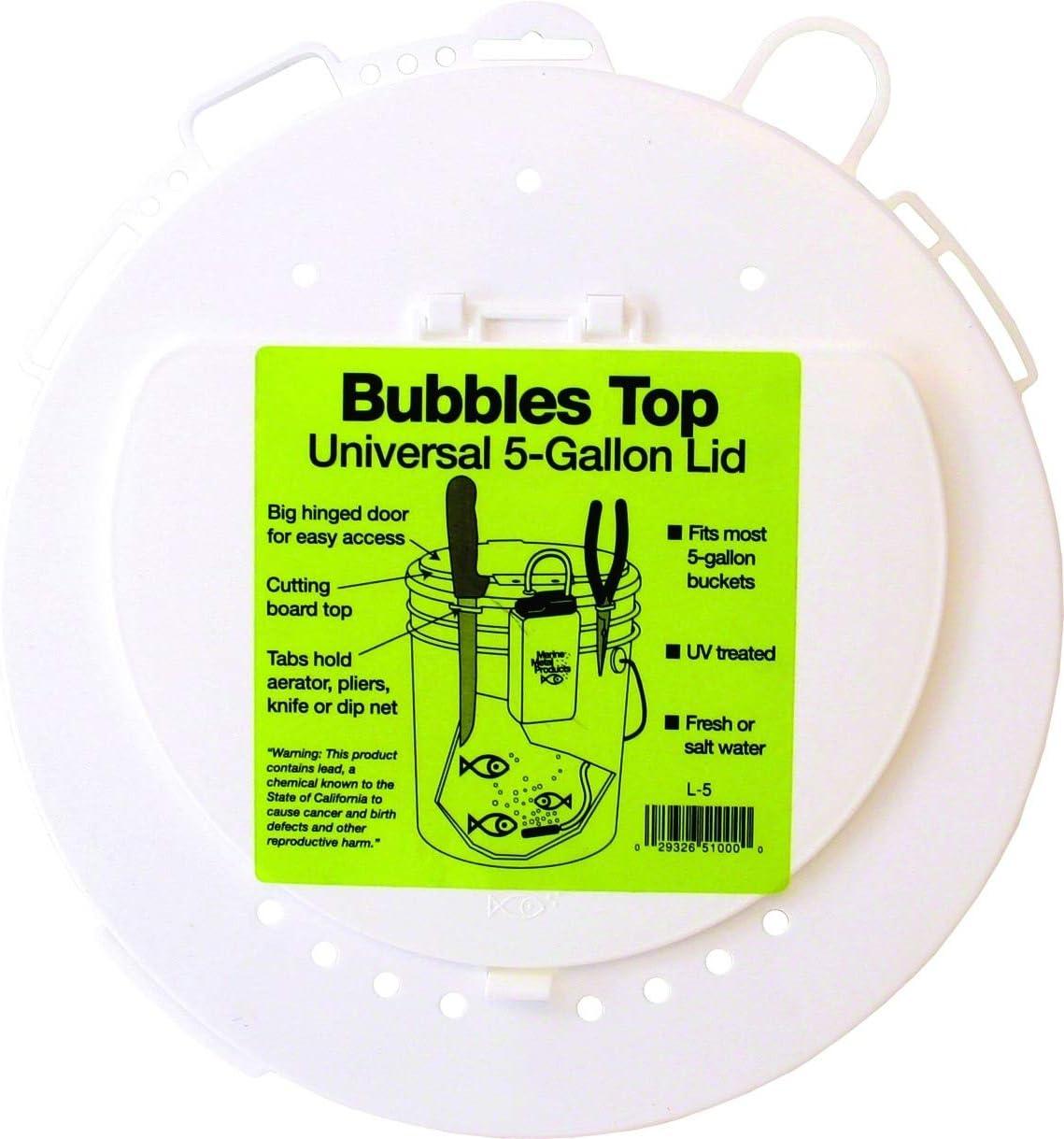 Marine Metal L-5 Bubbles Top 5 Gallon, Universal Lid W/Tabs