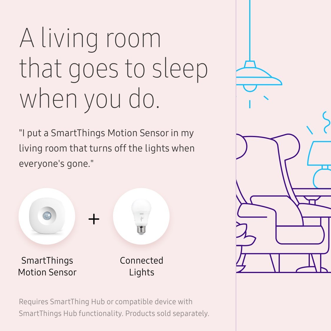 Samsung SmartThings Motion Sensor [GP-U999SJVLBAA] with Slim Design and Optional Automated Alerts - Alexa Compatible - White by Samsung (Image #6)