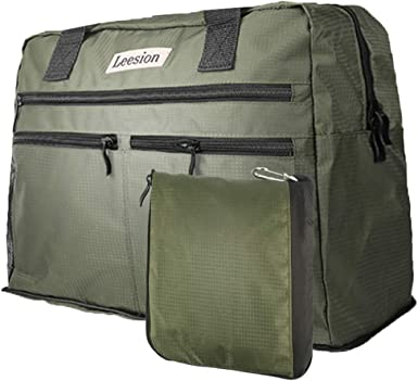 Travel Duffel Bag Waterproof Lightweight Large Capacity Duffel Tote Bag Dark Future Portable Handbag For Travel Camping Sport White