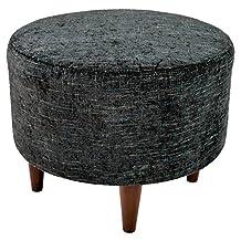 MJL Furniture Designs SOPHIA-ATLASMIDNIGHT  Sophia Allure Round Ottoman
