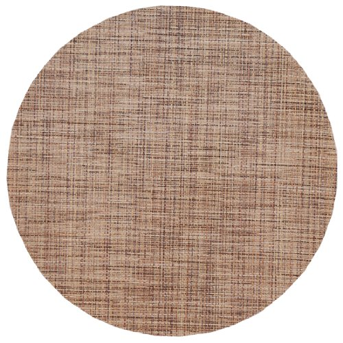Brown/Tan Wipeable Charger-Center Round Placemat ()