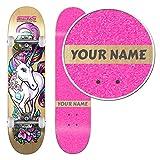 Personalized SkateXS Beginner Unicorn Girls Skateboard