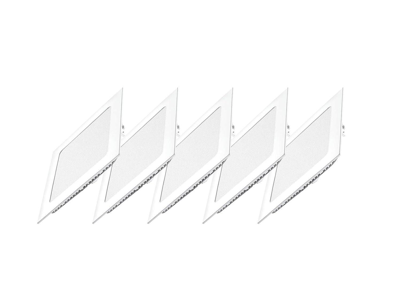 6 W 550 lumens spot encastrable lumi/ère froide 6000 K avec ailettes /à ressort 6 Lot de 5 panneaux carr/és LED DYA