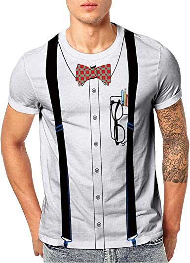 SANGQU Mens T-Shirt Fashion Cool 3D Printed Pattern Short Sleeve Tees Top