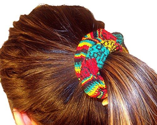 Wholesale Lot 12 Woven Hair Scrunchies Peru Mix Cotton Blend Fair Trade Quantity from Sanyork