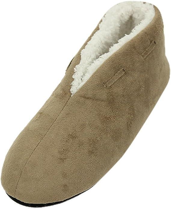Zapatillas de estar por casa el/ásticas con velcro superanchas Modelo Arthur hombre caballero Sleepers