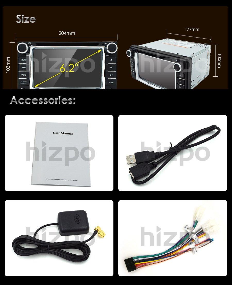 Hizpo Universal Car DVD Player for Toyota Camry Corolla RAV4 4Runner Hilux  Tundra Celica Auris Radio 2 Din 6 2 Inch In Dash GPS Sat Navigation
