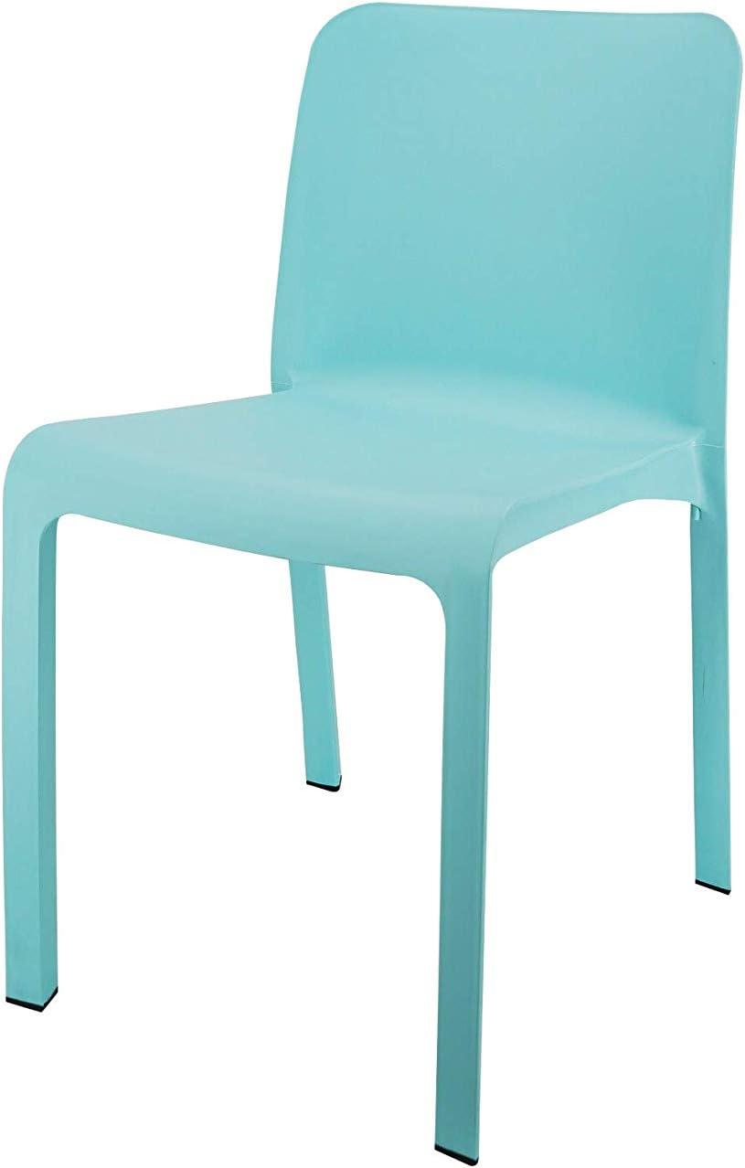Shaf 55420 Grana | Set 6 Sillas Jardin de Color Azul | Fabricado en España con Materiales Reciclados, Unidades