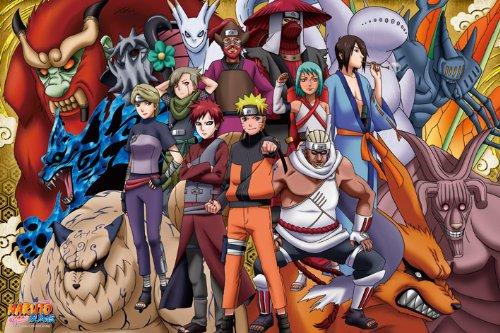 (1000 Pieces) Naruto Shippuden - The Gathering (50×75cm) Jigsaw (Geisha Costume Spirit Halloween)