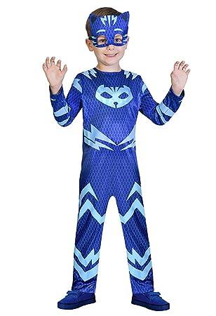 Venlen - Máscaras de árbol para niños Superhéroe Catboy disfraz y máscara