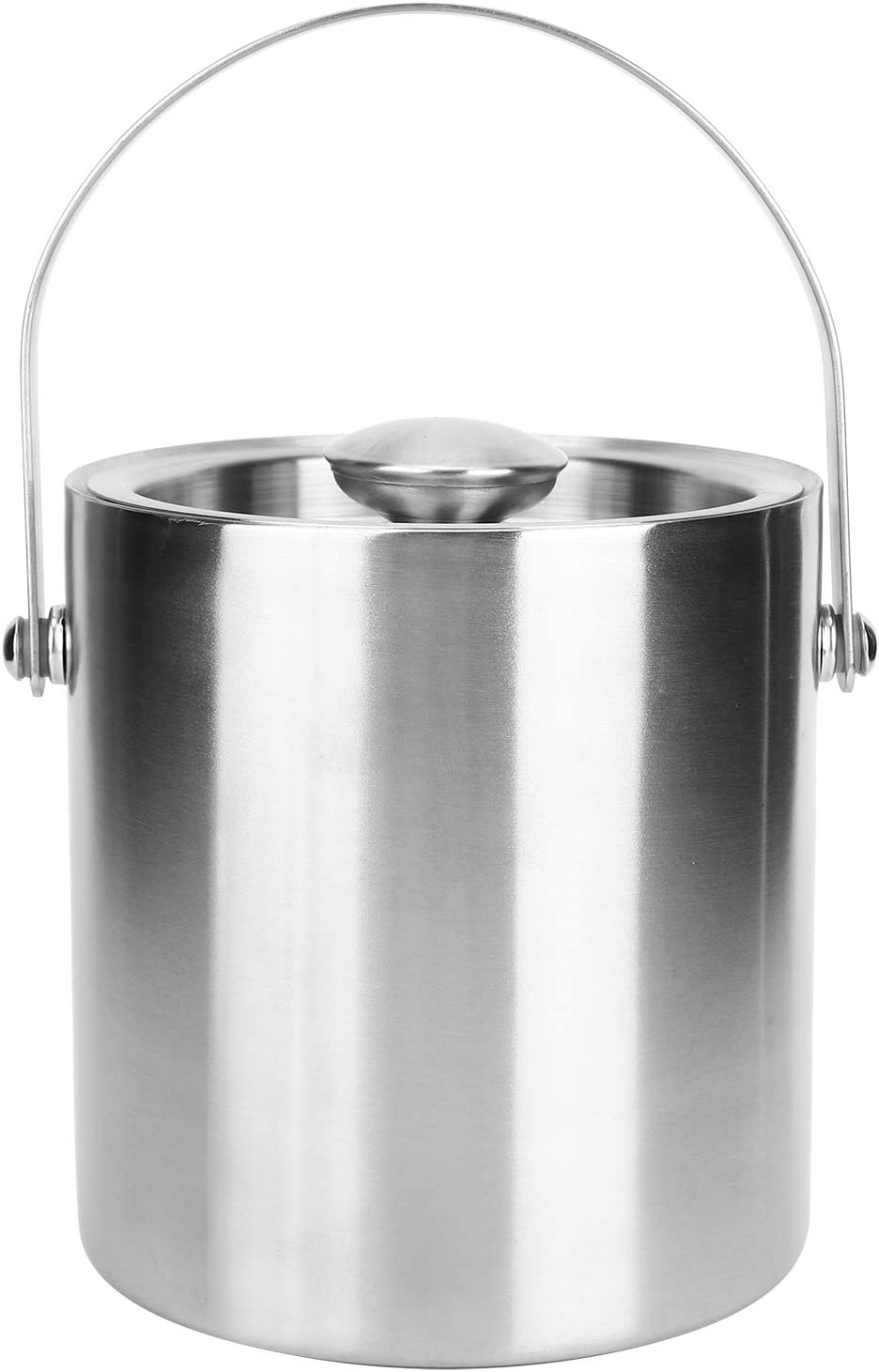 Champagne Barrel, Food Grade Safe And Healthy Wine Bucket, Double Layer Stainless Steel for Home Use KTV Wine Champagne Barrel Bar Supplies