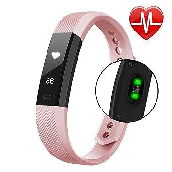 Fitness Tracker, vprawls reloj inteligente con ritmo cardíaco monitor contador de calorías podómetro, impermeable