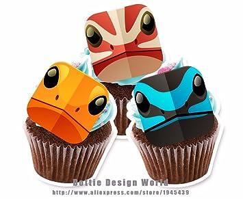 Decoración comestible para tarta con 15 cabezales de ...