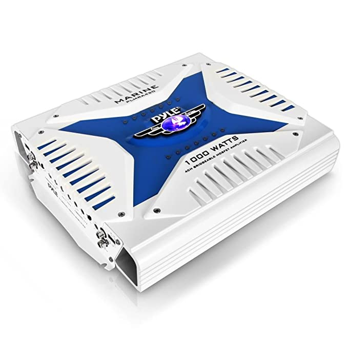 Pyle PLMRA420 - Amplificador impermeable de 4 canales, 1000 vatios ...
