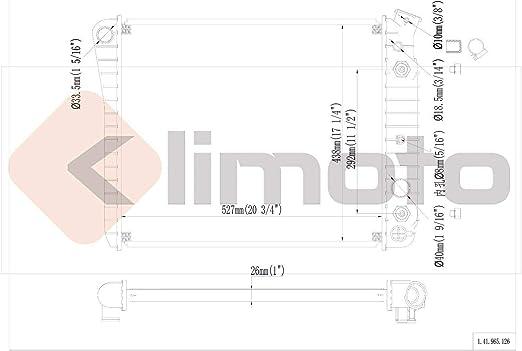 Klimoto Radiator KLI965 fits Chevrolet Camaro Firebird 1982-1986 2.5L L4 5.0L V8
