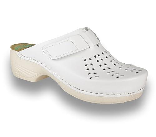 LEON PU161 Zuecos Zapatos Zapatillas de Cuero para Mujer  Amazon.es  Zapatos  y complementos 663c7c4e6f4