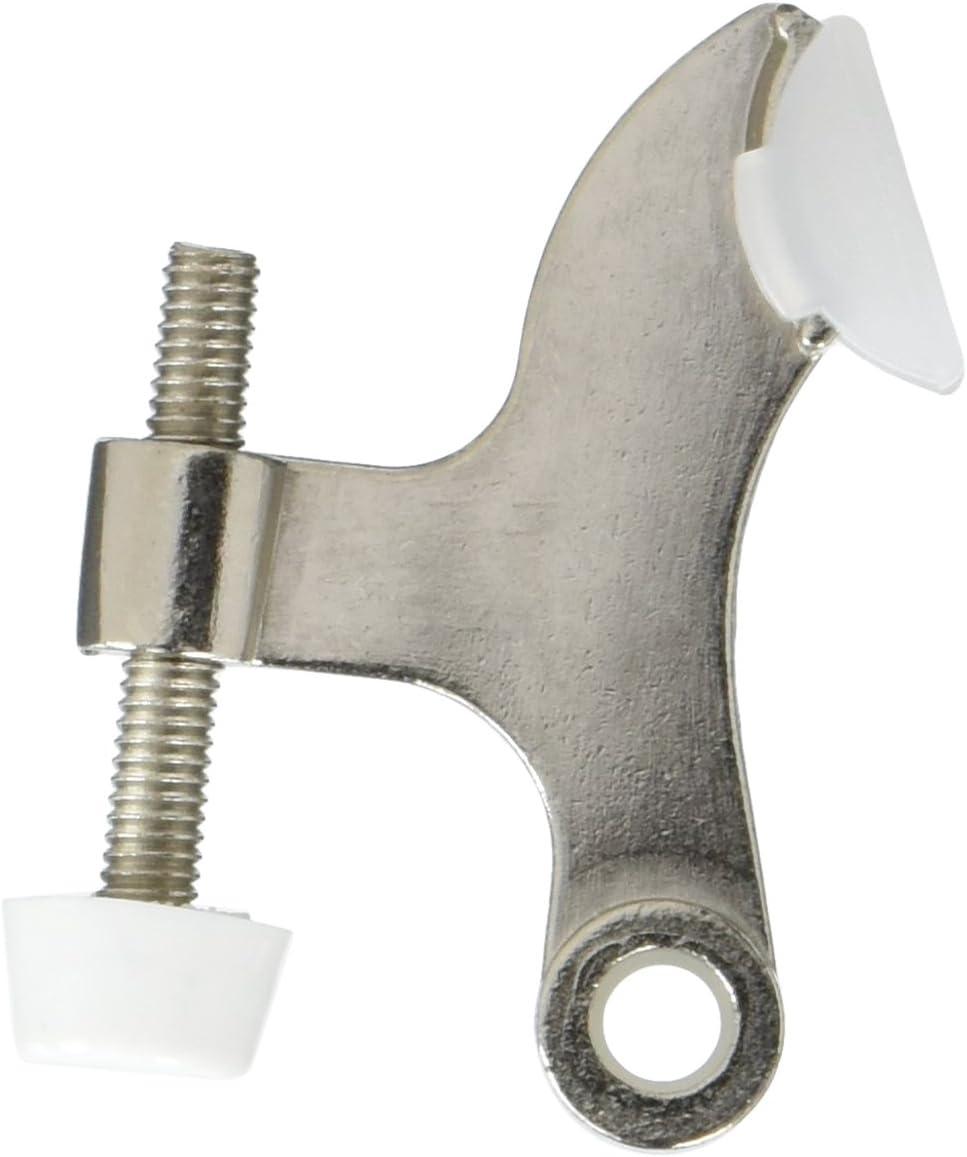 5 Pack Rok Hardware Heavy Duty Hinge Pin Door Stop, Brushed Nickel ROKDSP1BN
