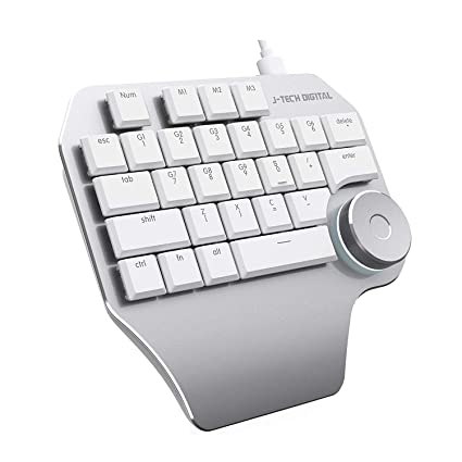 cc06874ac12 J-Tech Digital Designer Keyboard Mechanical Keypad with Smart Knob  Customized Shortcuts Aluminum